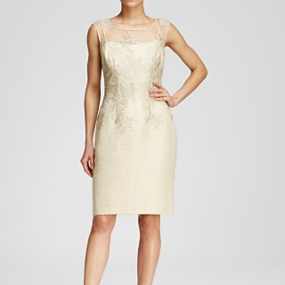 5bf10e52a26 Kay Unger Short Lace Tweed Cocktail Dress